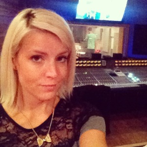 Hanging out in the Mixing Room while they were setting up the mic's!
