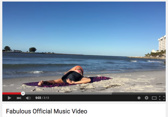 Napping on the beach during my video shoot for my single 'Fabulous'